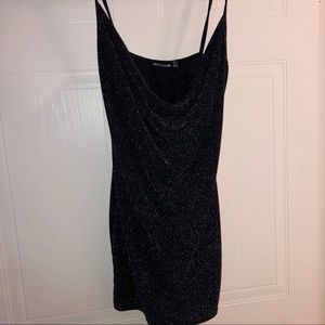 Pretty Little Thing sequin scowl-neck dress